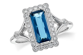 A217-78352: LDS RG 1.58 LONDON BLUE TOPAZ 1.75 TGW