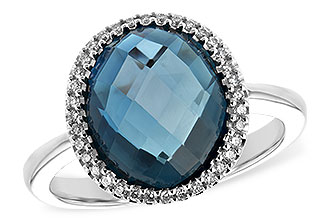B216-83743: LDS RG 5.31 LONDON BLUE TOPAZ 5.45 TGW
