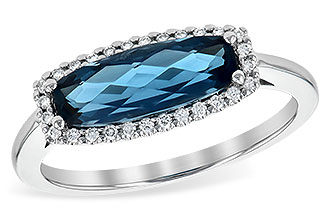 C217-77443: LDS RG 1.79 LONDON BLUE TOPAZ 1.90 TGW