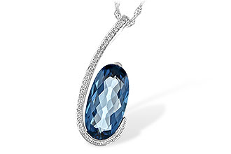 H216-82906: NECK 4.48 LONDON BLUE TOPAZ 4.60 TGW