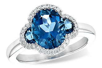 H217-78333: LDS RG 3.04 TW LONDON BLUE TOPAZ 3.20 TGW