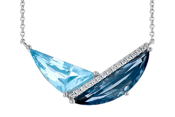 K300-48333: NECK 4.66 BLUE TOPAZ 4.75 TGW
