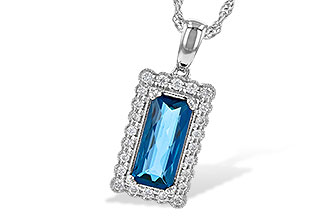 M217-80106: NECK 1.55 LONDON BLUE TOPAZ 1.70 TGW